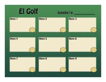 Spanish Present Tense Golf
