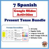 Spanish Present Tense Google Slides Activities Bundle