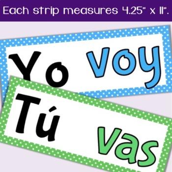 Spanish Present Tense IR Verb Conjugations Word Wall & Bulletin Board Set