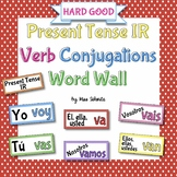 Spanish Present Tense IR Verb Conjugations Word Wall {HARD GOOD}