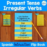 Spanish Present Tense Irregular Verbs Interactive Flip Book EDITABLE