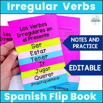 Spanish Present Tense Irregular Verbs Interactive Flip Book