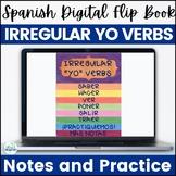 Spanish Present Tense Irregular YO Verbs Digital Flip Book
