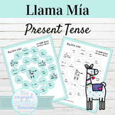 Spanish Present Tense Llama Mía Speaking Activity