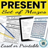 Spanish Present Tense Mazes and Worksheets Digital and Printable