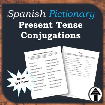Spanish Present Tense Pictionary Review Game Activity
