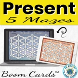 Spanish Present Tense Practice 5 Mazes for Boom Cards