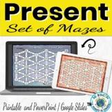 Spanish Present Tense Mazes Digital and Printable Versions