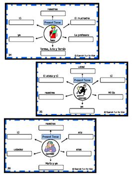 Spanish Present Tense Practice Task Cards