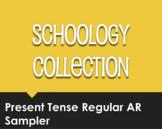 Spanish Present Tense Regular AR Schoology Collection Sampler