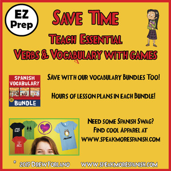 Spanish Present Tense Regular AR Verbs BUNDLE! Games, Speaking, Writing, & More!