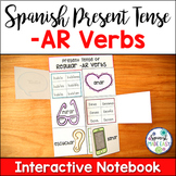 Spanish Present Tense Regular -AR Verbs Interactive Notebo