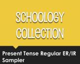 Spanish Present Tense Regular ER and IR Schoology Collection Sampler