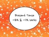 Spanish Present Tense Regular -ER & -IR Verbs Keynote Slideshow for Mac