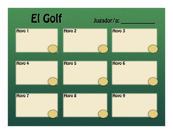 Spanish Present Tense Regular ER and IR Golf
