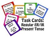 Spanish Present Tense Regular ER and IR Task Cards