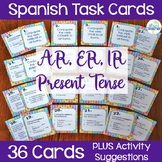 Spanish Task Cards Present Tense Regular Verbs