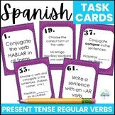 Spanish Task Cards Present Tense Regular Verbs