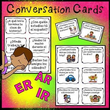 Spanish Present Tense Verbs AR, ER and IR