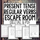 Present Tense Spanish Regular Verbs Break Out Escape Room distance learning