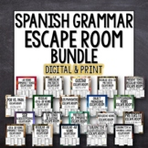 Spanish Break Out Escape Room Grammar Lesson Plan Activity Bundle