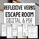 Reflexive Verbs Break Out Escape Room Lesson Activity Spanish