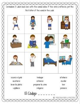 Reflexive Verbs Break Out Escape Room Lesson Activity Spanish