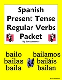 Spanish Present Tense Regular Verbs 28 Page Bundle