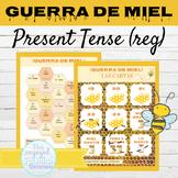 Spanish Present Tense Regular Verbs Game GUERRA DE MIEL