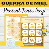 Spanish Present Tense Regular Verbs Game GUERRA DE MIEL |