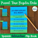 Spanish Present Tense Regular Verbs Interactive Flip Book EDITABLE