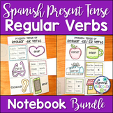 Spanish Present Tense Regular Verbs Interactive Notebook A