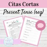Spanish Present Tense Regular Verbs Citas Cortas Speaking