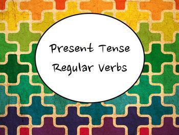 Spanish Present Tense Regular Verbs (-ar, -er, -ir) Keynot