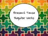 Spanish Present Tense Regular Verbs (-ar, -er, -ir) PowerPoint Slideshow