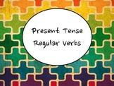 Spanish Present Tense Regular Verbs (-ar, -er, -ir) PowerP