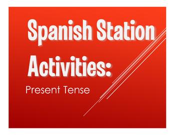 Spanish Present Tense Stations