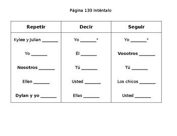 Spanish -Present Tense Stem-Changing Verb Practice