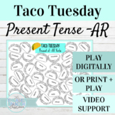 Spanish Present Tense AR Verbs TACO TUESDAY FREE