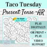 Spanish Present Tense AR Verbs TACO TUESDAY FREE | Digital