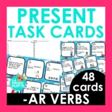 Present Tense Task Cards | REGULAR AR VERBS ONLY | Spanish