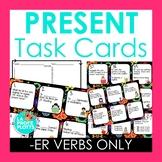 48 Spanish Present Tense Task Cards (REGULAR ER VERBS ONLY)