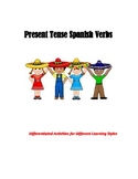 Spanish Present Tense Verb Differentiated Activities