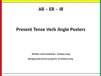 Spanish - Present Tense Verb Jingle