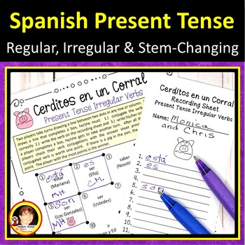 Spanish Present Tense Verbs Activities