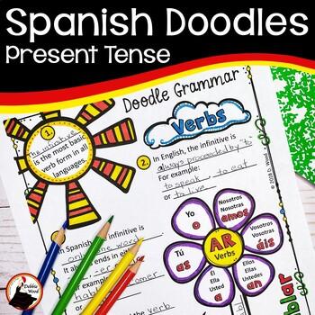 Spanish Present Tense Doodle Grammar