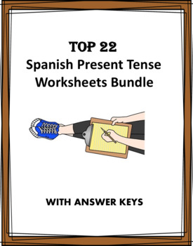 Spanish Present Tense Verbs BIG Bundle: 20 Worksheets at 50% off!