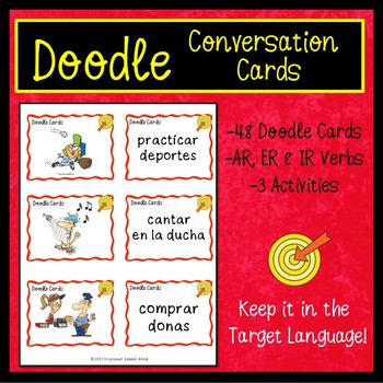 Spanish Present Tense Verbs BUNDLE (Doodle Style)