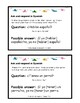 Spanish Present Tense Verbs. Conversation Task Cards & Activities.
