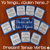 Spanish Present Tense Verbs I have...Who has....? Game